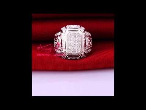 Affordable Luxury Quality Mini Synthetic Diamond Ring Sterling Silver Plated White Gold Ring
