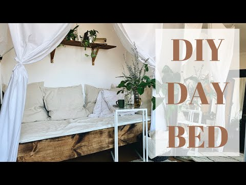 DIY Daybed & Living Room Decor