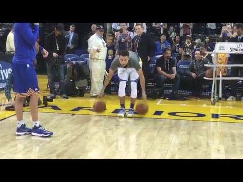 Stephen Currys Full Pre-Game Routine for Trail Blazers/Warriors!