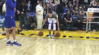 Stephen Curry's Full Pre-Game Routine for Trail Blazers/Warriors!