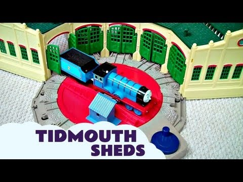 Trackmaster Tidmouth Sheds Toy with Thomas And Friends Hank Scruff James Edward & Henry Kids
