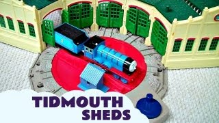 Trackmaster Tidmouth Sheds Toy with Thomas And Friends Hank Scruff James Edward u0026 Henry Kids