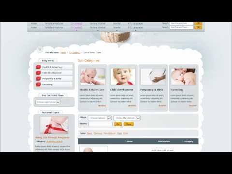 Joomla 2.5 Template: JM Baby Catalog