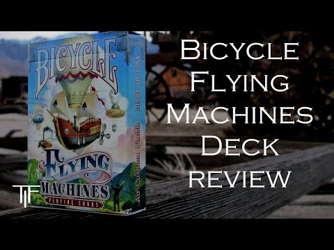 Bicycle Flying Machines Playing Cards - Deck Review