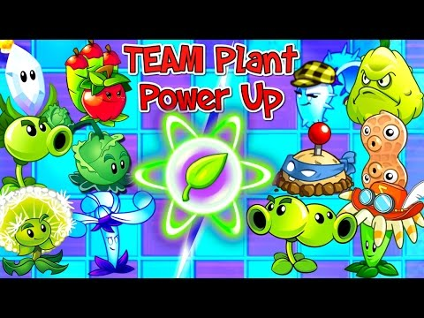 Teams Plants vs Zombies 2 Premium and Free Plants Power UP!