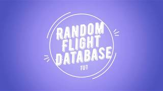 Random Flight Database Tuto