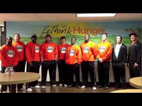 Cowboy Football Volunteers at North Texas Food Bank