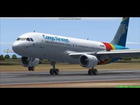 Congo Airways A320  Lubumbashi International Airport  FZQA  Landing  FS9