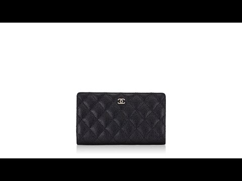 Chanel Caviar Quilted Yen Wallet Black
