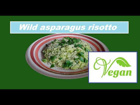 vegan wild asparagus risotto easy healthy italian recipe ☘vegetarian family diary☘