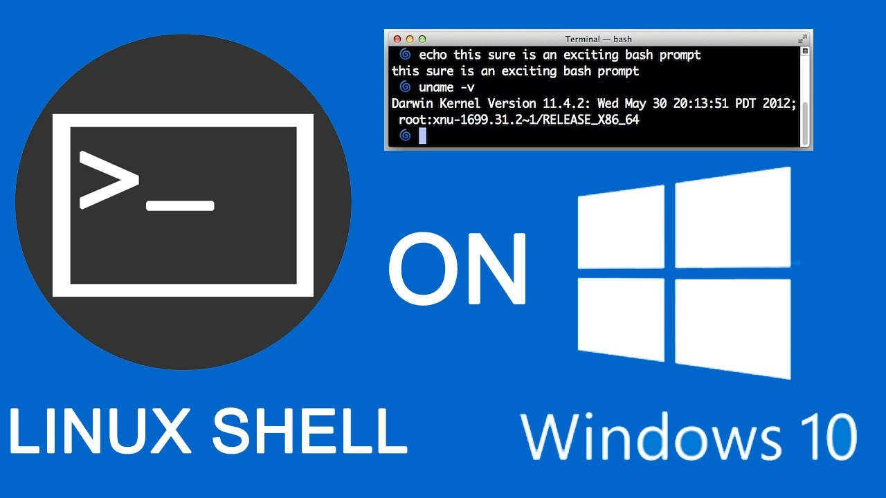 how to get linux shell(bash) on windows 10