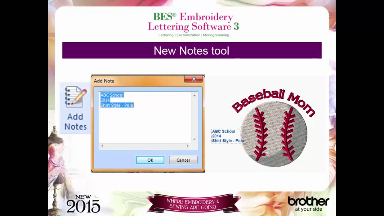 bes embroidery lettering software 3 brother sews