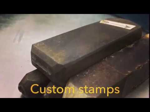 Custom Metal stamps for making jewelry wood leather
