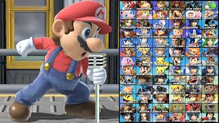Super Smash Bros Ultimate All Characters Singing the Menu Theme