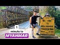CROSSING THE BORDER TO MYANMAR FROM INDIA ON FOOT | Sim card, Currency Exchange