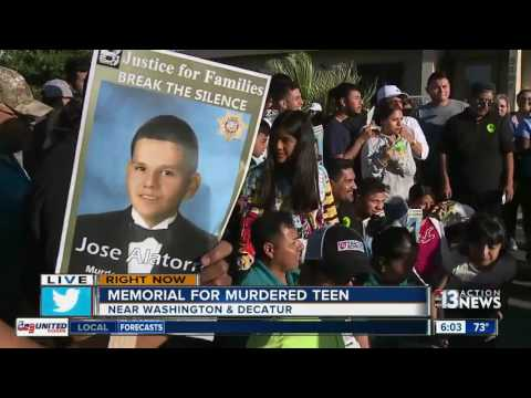 Memorial for murdered teen