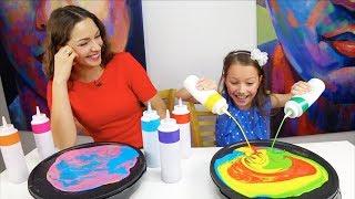 Что Устроила Вика на 8 Марта Pancake Art Challenge /// Вики Шоу