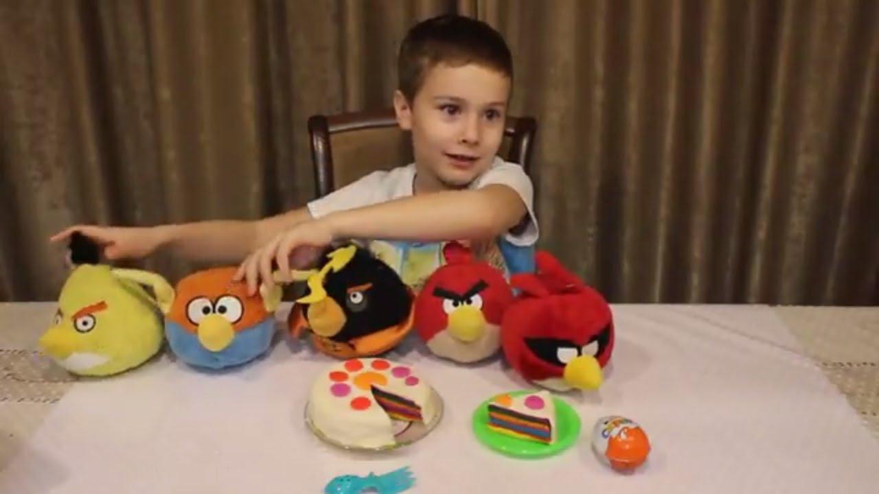 Игра энгри бердс игрушки птички и яйцо с сюрпризом Аngry Birds toy birds and egg with a surprise