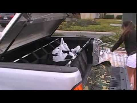 pickup truck bed cargo net youtube. Black Bedroom Furniture Sets. Home Design Ideas