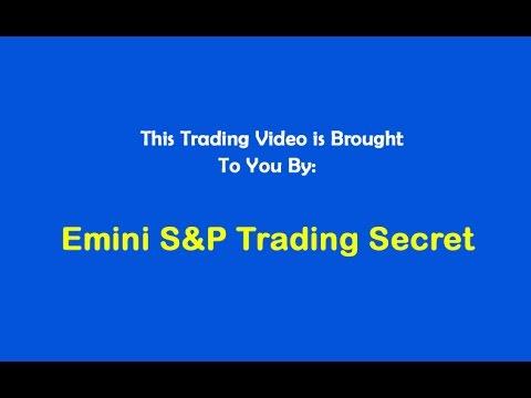 Emini S&P Trading Secret $1,290 Profit