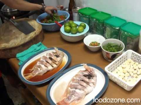 วิธีการทำปลาทับทิมนึ่งมะนาว
