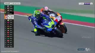 Duel Seru Marc Marquez Vs Andrea Dovizioso Race Moto Gp Aragon 2018