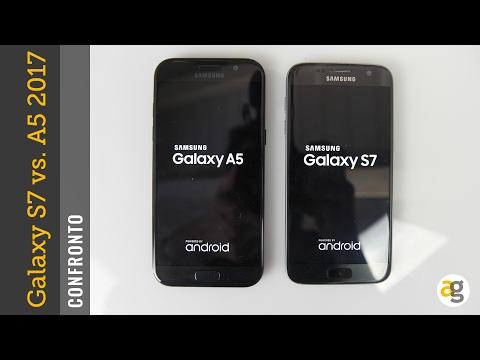 CONFRONTO Galaxy A5 2017 vs S7