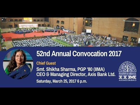 Live Web Streaming of IIM Ahmedabad's 52nd Annual Convocation 2017