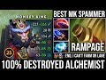 Best Monkey King Spammer Deleted Alchemist From Mid | Rampage with Scepter Infinite Soldier - DotA 2