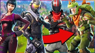 5 CRAZY novas skins em Fortnite! (Battle Royale do Fortnite) Rex, Burnout, & Rogue Agent Epic skins!