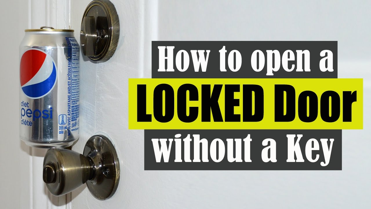 How To Open A Locked Door Without A Key Youtube