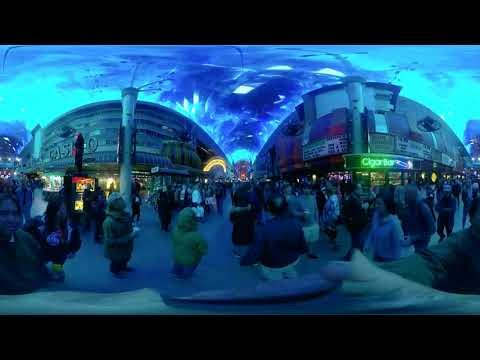 Las Vegas Fremont St Experience | Insta360One 360 Travel Vlog | Chicken Rice Chronicles