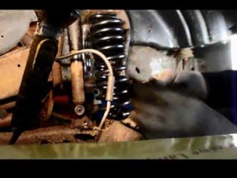 How to replace the front spring on a 1995 Ford F150