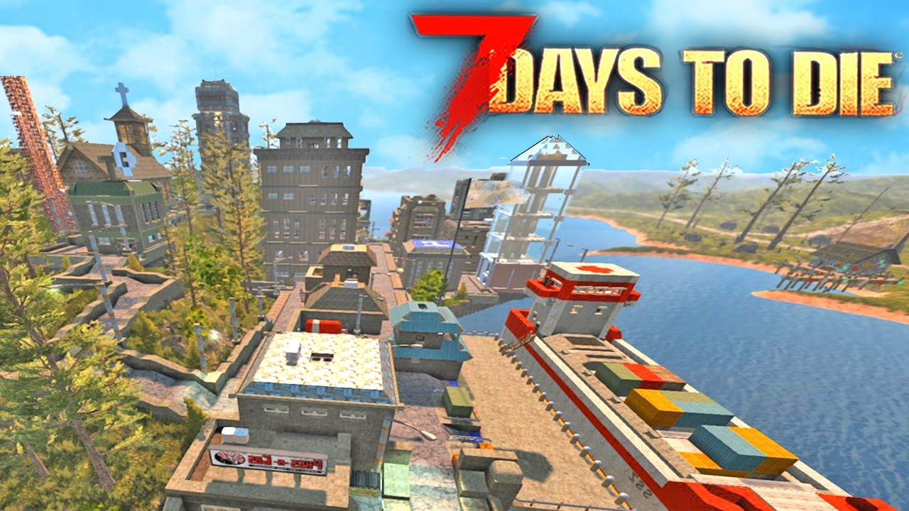 7 Days To Die Building The Best Base 7 Days To Die Starvation Mod Youtube