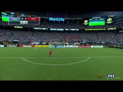 আর্জেন্টিনা বনাম চিলি ফাইনাল ম্যাচ পেনাল্টি  হাই লাইট। copa finaal match penalty.  messi crying.. thumbnail