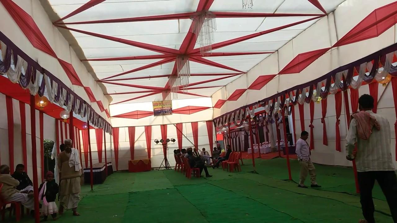 Alok tent house ka new look of wedding pandal & Alok tent house ka new look of wedding pandal - YouTube
