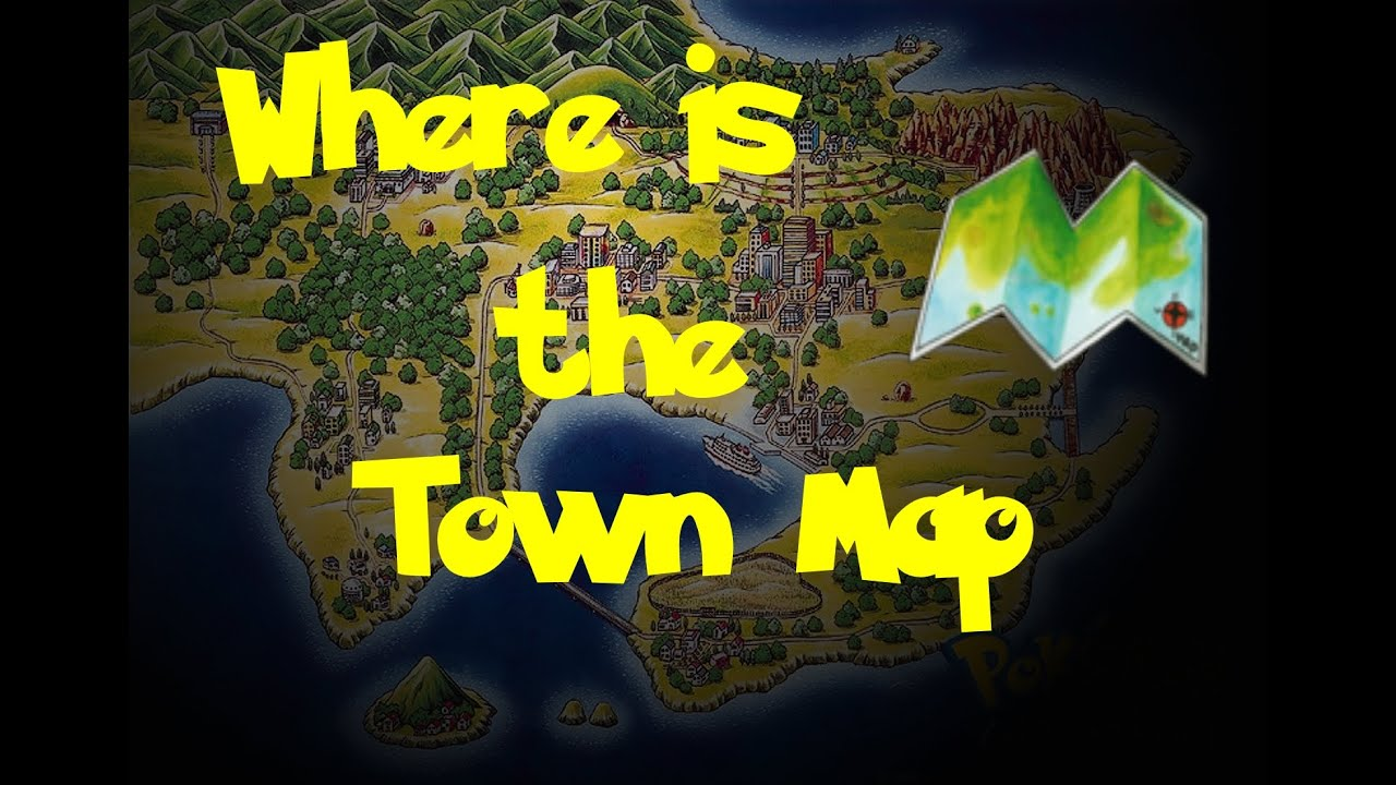 Where Is The Town Map Pokemon BlueRedYellow  YouTube