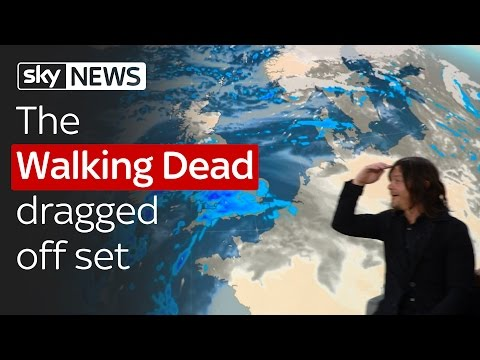 The Walking Dead's Norman Reedus dragged off the Sky News Sunrise set