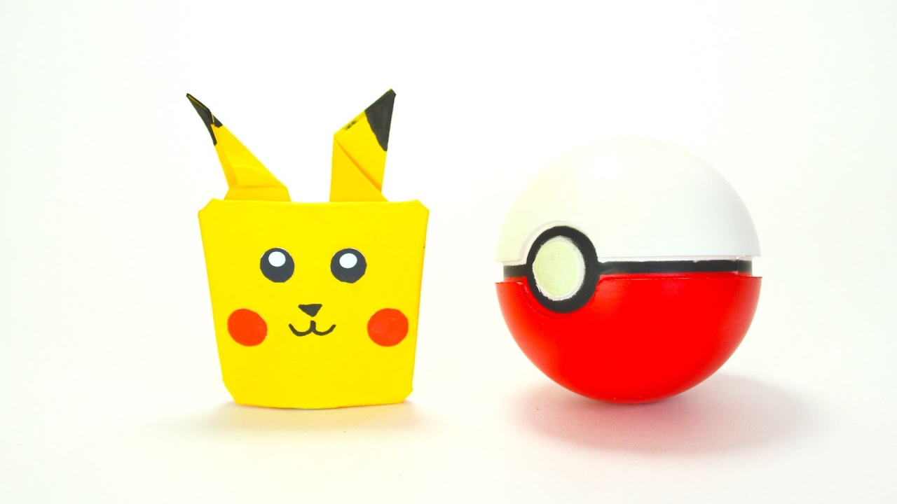 how to make a pikachu origami puppet youtube