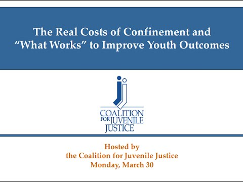 "The Real Costs of Confinement and ""What Works"" to Improve Youth Outcomes Webinar"