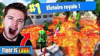 TOP 1 SANS TOUCHER LE SOL ! (The floor is Lava Fortnite 🔥) #DEFI3