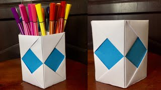 How to make pen stand | Origami pen holder | Paper pencil holder | DIY-Beauty Of Paper
