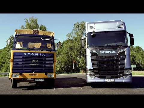 New vs Old: Test driving a Scania 140 and a Scania S 730 V8