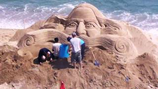 2009 Sand Art with time lapse recording!