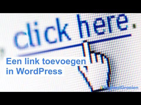 Een link invoegen in WordPress