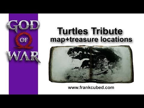 """God of War """"TURTLES TRIBUTE"""" Map and Treasure Locations"""