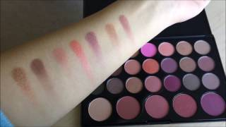 bh cosmetics blushed neutrals unboxing swatches 26 color eyeshadow and blush palette