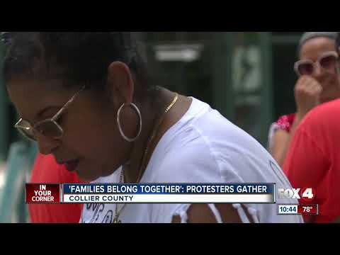 Protesters Gather In Collier County For