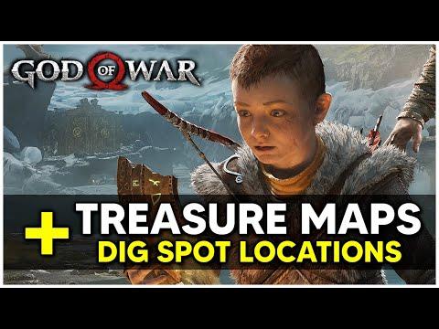 God Of War - All Treasure Maps & Dig Spot Locations Treasure Hunter Trophy / Achievement Guide