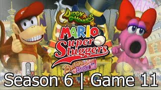 Mario Super Sluggers | Season 6 Game 11 - Diddy vs Birdo @ Wario City Night